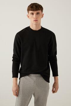 Springfield Sweat-shirt ras de cou basique noir