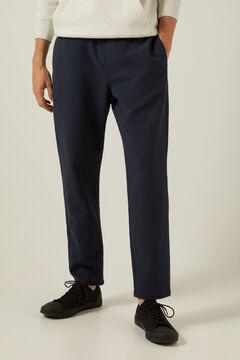 Springfield Pantalon chino comfort urban structuré blau