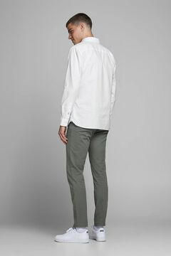 Springfield Basic cotton shirt weiß