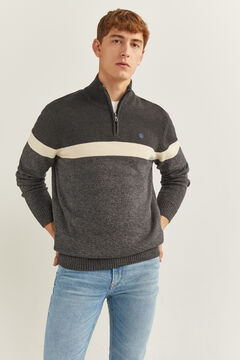 Springfield ORGANIC COTTON ZIP-UP JUMPER gray