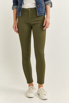 Springfield Eco Dye coloured jeans green