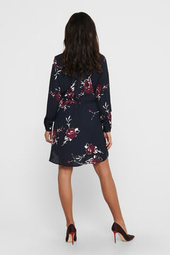 Springfield Printed short dress bleuté