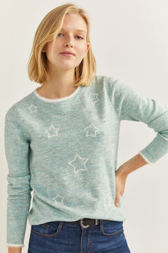 Springfield Pullover Sterne lila
