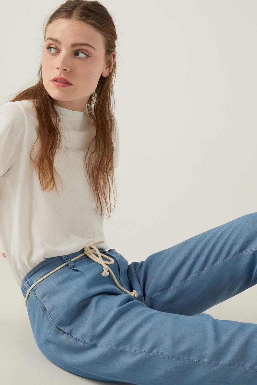 Pantalon baggy ceinture tencel springfield