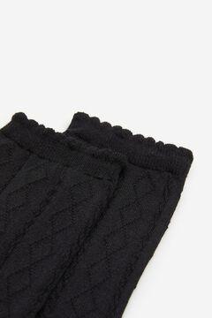 Springfield Calcetín textura negro