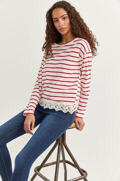 Springfield Camiseta crochet rojo