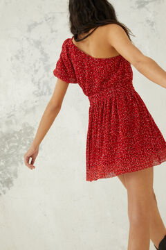 Springfield Short asymmetric dress red