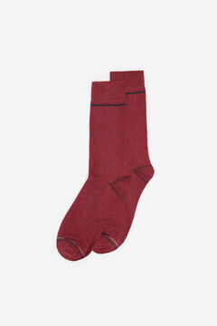 Springfield COLOURED MARL SOCKS deep red