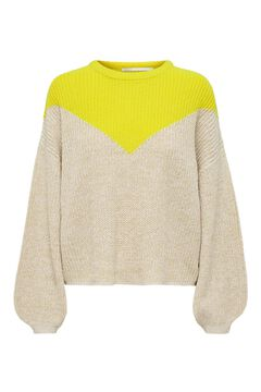 Springfield Balloon sleeve knit jumper green