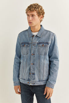 Springfield Medium-light wash denim jacket blue