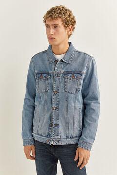 Springfield Blouson en jean lavé moyen clair blau