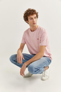 Springfield MICRO STRIPED T-SHIRT pink