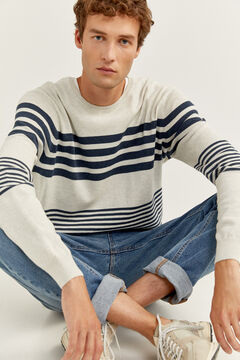 Springfield SAILOR STRIPES MELANGE JUMPER grey
