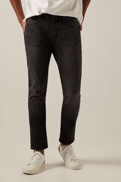 Springfield Black wash skinny jeans light gray