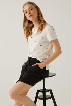 Springfield Printed organic cotton t-shirt ecru