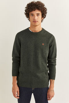 Springfield ORGANIC COTTON TWISTED YARN JUMPER grey