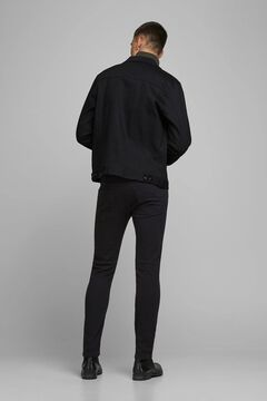 Springfield Slim fit tapered jeans noir