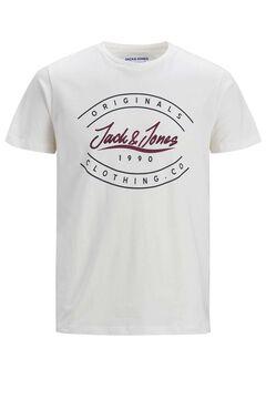 Springfield Camiseta estampada sostenible blanco