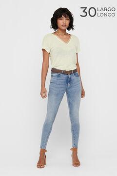 Springfield High rise cigarette jeans bläulich