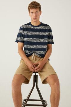 Springfield Stripy T-shirt navy mix