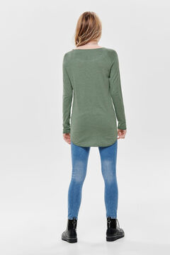 Springfield Long-sleeved round neck jumper vert