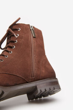 Springfield Suede Lace-up Ankle Boot camel
