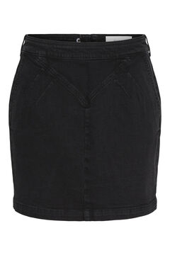 Springfield Denim mini skirt black