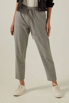 Springfield Pantalón jogger espiga gris