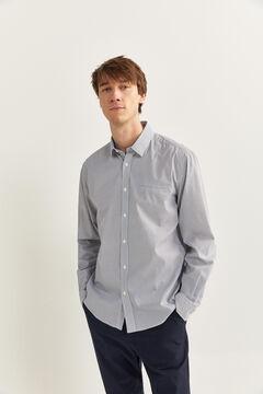 Springfield Slim fit dobby shirt white