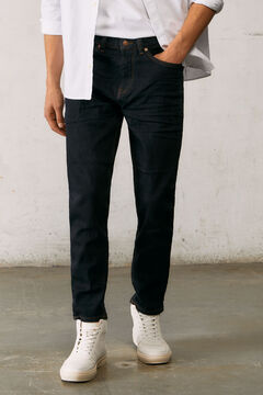 Springfield Desized wash slim fit comfort cropped jeans navy