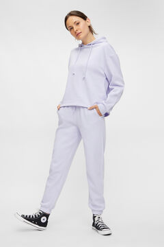 Springfield Jersey-knit trousers purple