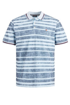 Springfield Melange striped polo bluish