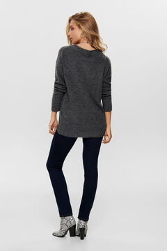 Springfield Long-sleeved wide fit jumper gray