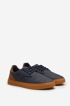 Springfield Casual lace-up shoe with caramel sole bluish