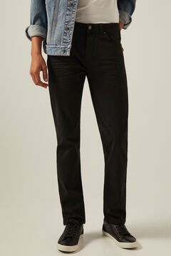 Springfield Slim fit washed 5-pocket coloured trousers black