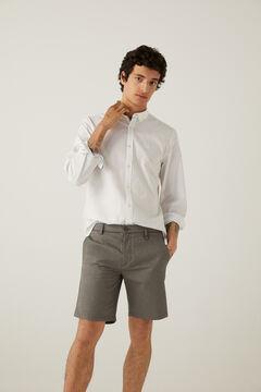 Springfield Slim fit medium grey wash denim Bermuda shorts petrol