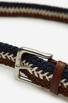 Springfield Multicoloured woven belt brown
