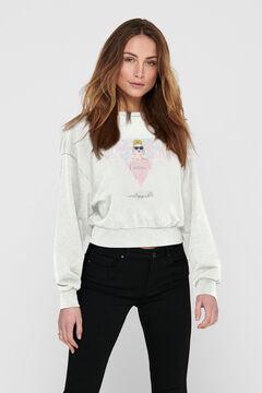 Springfield Female' print sweatshirt white