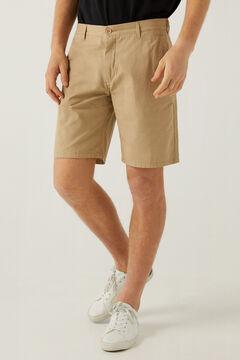 Springfield Micro print Bermuda shorts camel