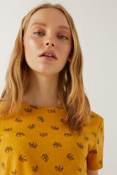 Springfield Printed organic cotton t-shirt yellow