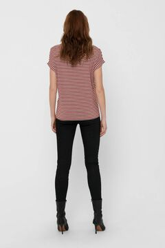 Springfield Essential striped t-shirt. rouge
