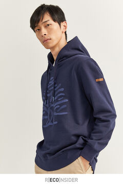 Springfield TREE HOODED SWEATSHIRT bluish
