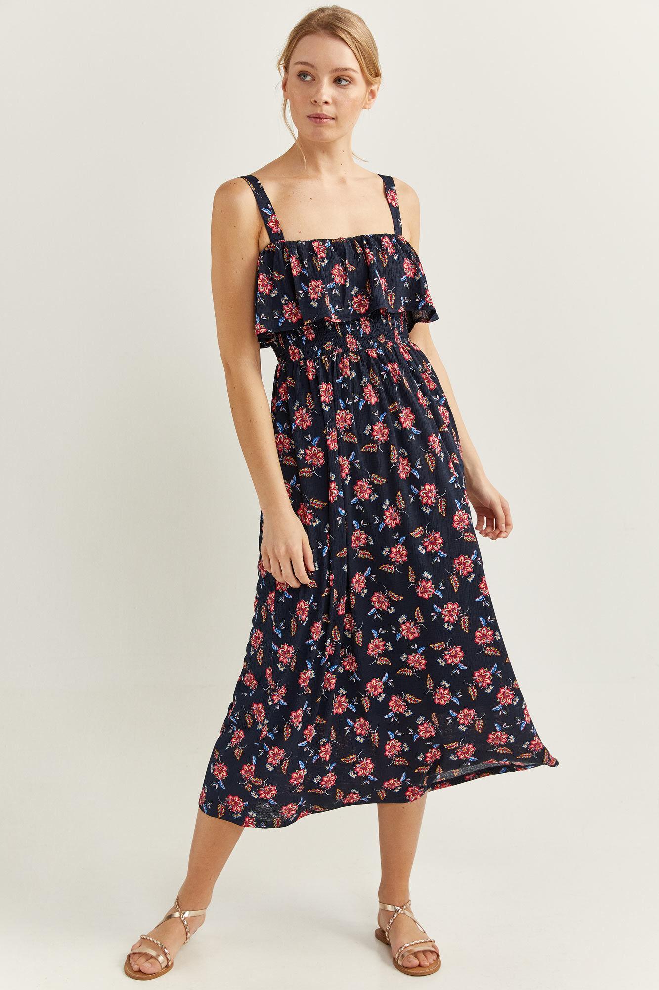 Langes Kleid Blumen  Kleider  Springfield Man & Woman