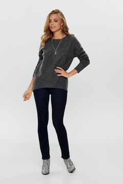 Springfield Long-sleeved wide fit jumper gris