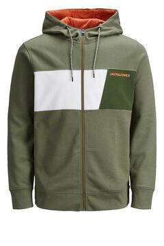 Springfield Zipped sweatshirt green