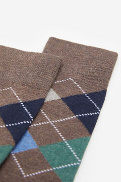 Springfield COLOURED DIAMOND SOCKS brown