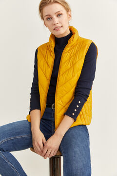 Springfield Quilted Gilet yellow