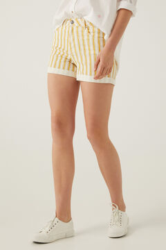 Springfield Striped denim shorts golden