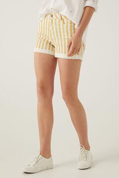 Springfield Short jean rayures golden