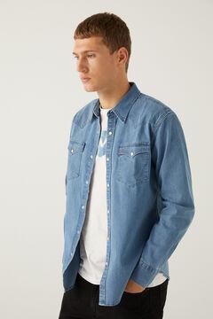 Springfield Barstow Western Standard Shirt steel blue